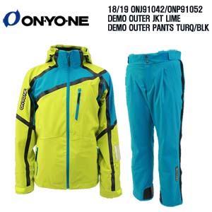 1819 시즌 ONYONE ONJ 91042 DEMO OUTER JKT LIME+ONP 91052 DEMO PANTS TURQUOISE BLK